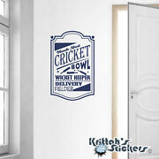 Hook Shot Cricket Vinyl Wall Decal Quote Bowl Wicket Keeper Delivery Field L161