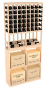 Wooden Side Display Solid Case Bin Combo Wine Cellar Rack Kit In Pine. Usa Made.