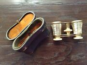 Antique Lemaire Mother Of Pearl Opera Glasses And Case
