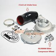 Ford Powerstroke 7.3l Gtp38 4and039and039 Compressor Housing Hose Rebuild Kit Billet Wheel