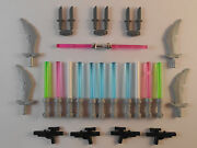 Lego Minifigures - Lot Of 23. Lightsabers Hilt. New Free Shipping Star Wars