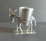 Vintage Mexico Sterling Silver Donkey / Burro Double Toothpick Holder