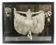 Original Fay Marbe Photograph, Signed And Personalized In Wood Frame C1920