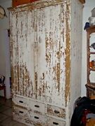 Vintage Victorian Bakery Supply Kitchen Cabinet