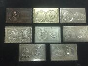 Vintage 1970and039s Numistamp Plaques By Mort Reed--15 Popular Coin Plaques