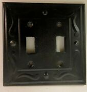 Tin Switch Plate/outlet Covers W/ Swirl 1/4 Beveled Edge, Dark Bronze Black