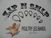 Grey Leg Bands One Size Fits All Poultry Chicken Duck Turkey Pheasant Goose