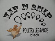 Black Leg Bands One Size Fits All Poultry Chicken Duck Turkey Pheasant Goose