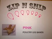 Pink Leg Bands One Size Fits All Poultry Chicken Duck Turkey Pheasant Goose