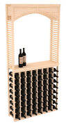 Wooden Tasting Table With Archway Wine Cellar Rack Kit In Pine. Usa Made.