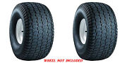 Two 24x12-12 24x12.00-12 Carlisle Turf Master 4ply Rated Lawn Mower Tires