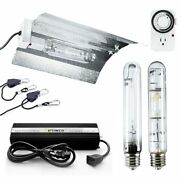 Ipower 400watt Hps Mh Dimmable Grow Light System Kits Wing Reflector Set And Timer