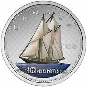 Canada 2016 Big Coins Series Bluenose Color 10 Cent 5 Oz Pure Silver Proof + Ogp