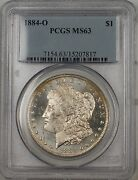 1884-o Morgan Silver Dollar 1 Pcgs Ms-63 Better Coin Proof Like Br-16 Q
