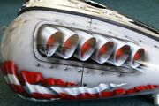 Custom Motorcycle Paint Job On Your Tins P-40/ Rivets Gas Tank Airbrush