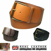 3 Ladies Full Grain Hide Real Leather Hipster Belts Made In Uk Lhc-007