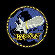 Us Navy Mcdonnell Douglas Harpoon Missile Insignia Embroidered Polo Shirt