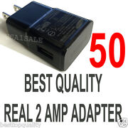 Lot 50 X 2a Ac Wall Power Charger Adapter For Samsung Galaxy S5 S4 S3 S2 Note Ii