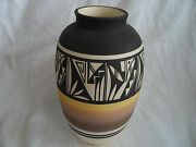 SIGNED VINTAGE HAND MADE  AND HAND PAINTED CLAY VASE