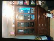 Ethan Allen Classic Manor Maple Grilled Glass China Cabinet Hutch 15 6028
