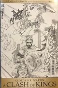 Game Of Thrones A Clash Kings 1 Variant Incentive Black And White Covers Tv Comics