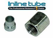 4-an 1/4 Tubing Nut And Sleeve 37 Degree Sae Flare Plated Steel Anc108 4 An 4an