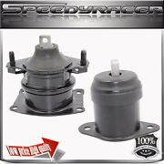 Front And Front Right Engine Mount For 2003-2007 Accord 3.0l V6 A6526hy A4517 2pcs