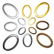 Solid Cast Oval Rings Metal Bags Collars Craft 18 29 39 Mm