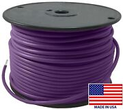 250' Ft Violet/ Purple 10 Ga Awg Tinned Copper Marine Primary Wire Boat Usa Made