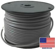 250' Ft Gray 10 Ga. Awg Tinned Copper Marine Primary Wire Boat Usa Made