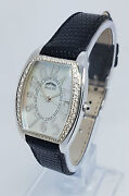 Rialto Ladies 18k White Gold And Diamond With Mop Dial 26 X 38mm Watch