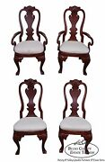 Pulaski Antiques Roadshow Set Of 4 Philadelphia Queen Anne Style Dining Chairs