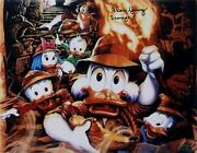 Alan Young Signed Disney Scrooge 11x14 Photo Duck Tales Auto Oc Hologram Coa A