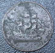 Old Canadian Coin - Edward Island Ships Colonies And Commerce Token -lees 8