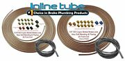 Copper Nickel Brake Line Tubing Kit 3/16 And 1/4 25 Ft Coil Rolls Fittings Spring