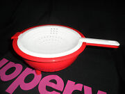 Tupperware - Double Colander Red And White