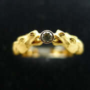 Carrera Y Carrera Ring Two Horses One Diamond 18k Yellow Gold Womenand039s Size 6.5