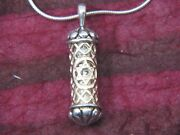 Women's Mezuzah Pendant Necklace In 14k Gold And 925 Sterling Silver | M.bromberg