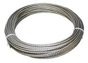 304 Stainless Steel Wire Rope, 3/8, 7x19, 50 Ft, Made In Korea
