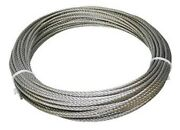 304 Stainless Steel Wire Rope Cable, 1/4, 7x19, 50 Ft, Made In Korea