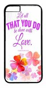 For Iphone 6/6s/plus/5/5s/5c/4s Bible Christian Quote Pattern Back Case Cover
