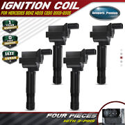 4x Ignition Coils For Mercedes-benz W203 C230 Coupe Sedan I4 1.8l 2003 2004 2005
