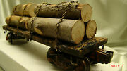 1 Logging Cars - Handcrafted, Knuckle Couplers, Lionel Frame - Custom Weathered