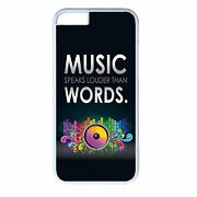 New Music Pattern Quote Case For Iphone 4s 5s 5c 6 6s Plus White Back Skin Cover