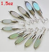 10 Pieces Casting Kast Spoons 1.5oz Chrome/silver Saltwater Fishing Lures