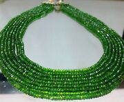 Chrome Diopside Beads Rondelle 3mm-5mm 1 Strand=16inch Good Quality