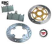 Fits Bmw K100 Rs Non Abs - 8 Valve 88-89 Front Disc Brake Rotor And Pads
