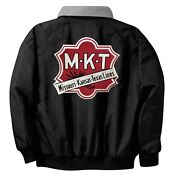 Missouri Kansas Texas Railroad Embroidered Jacket Front And Rear [70r]