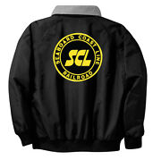 Seaboard Coast Line Railroad Embroidered Jacket Front And Rear [79r]