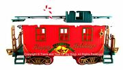 New Bright Caboose Winter Belle Christmas Train Car G Scale Trains Toys New I